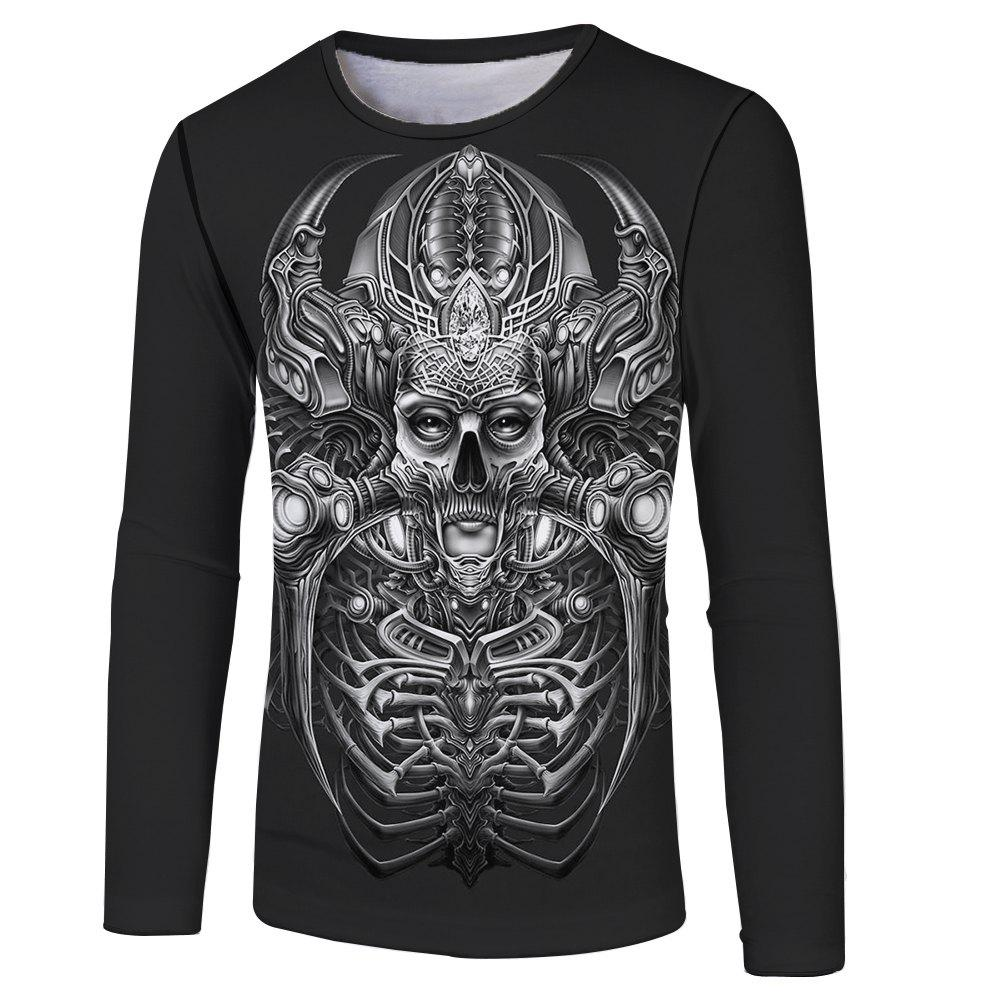 Outfits Strange New Men and Women Casual Fashion 3D Printed Long T-Shirt