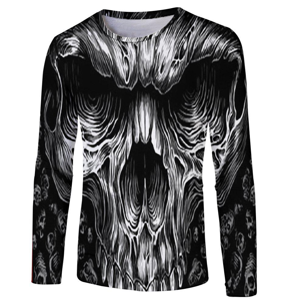 Online New Men and Women Casual Fashion Strange 3D Printed Long T-Shirt