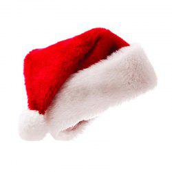 Christmas Thickening Golden Fleecy Cloth Santa Hats hats for Adults and Ch -