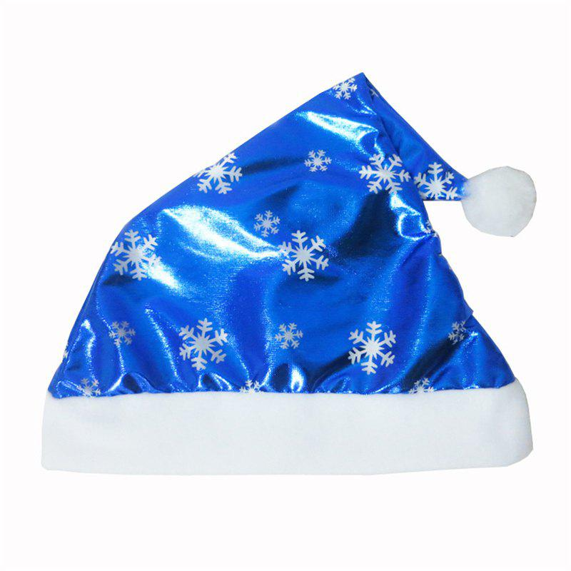 Outfit Christmas Children Adult Blue Bright Cloth Christmas Hat