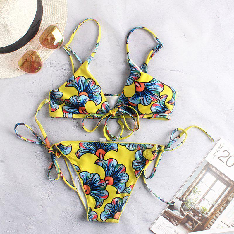 Outfit Bandage Push-up Bikini Set Padded Bra Triangle Swimsuit Women Swimwear