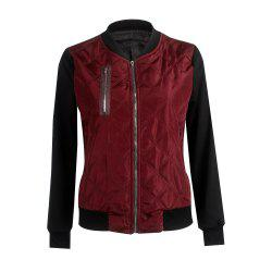 New Plain Color Fashion Zippered Cotton Jacket -