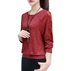 Women's T Shirt Slim Loose Long Sleeve Top -