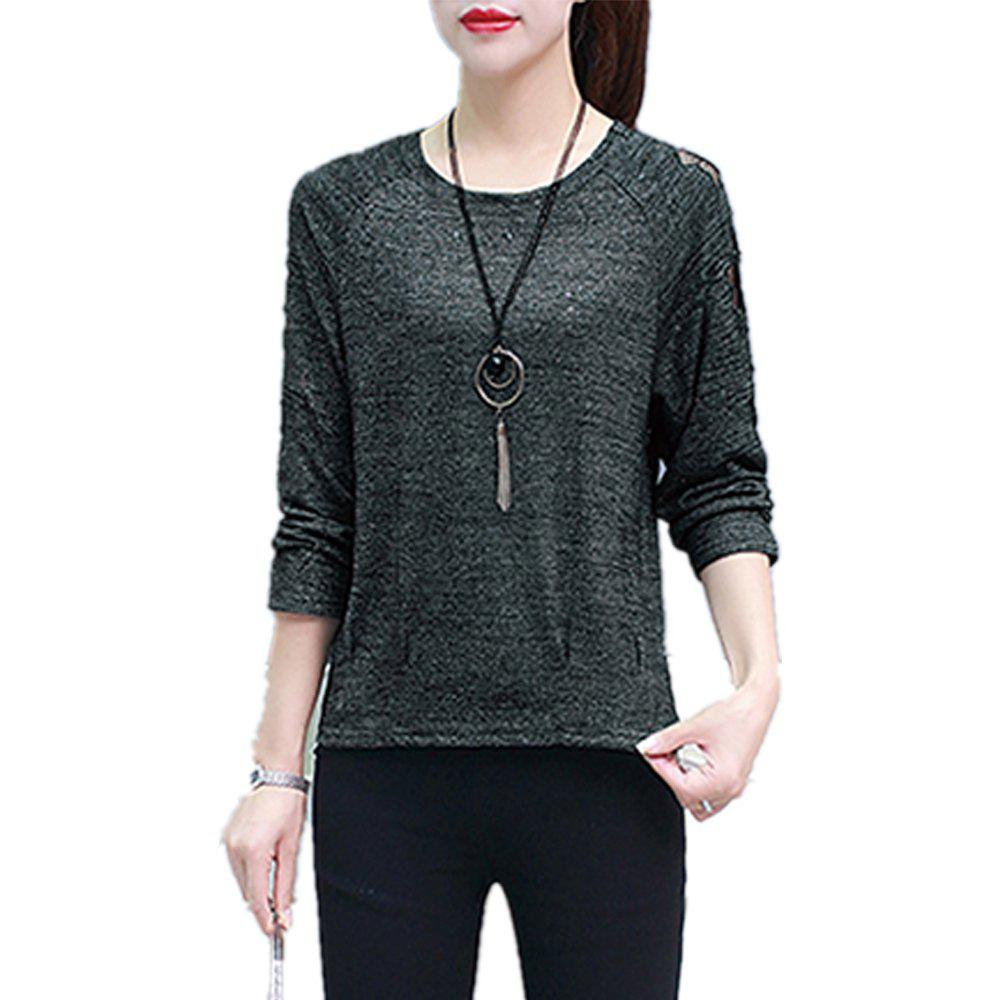 Unique Women's T Shirt Slim Loose Long Sleeve Top
