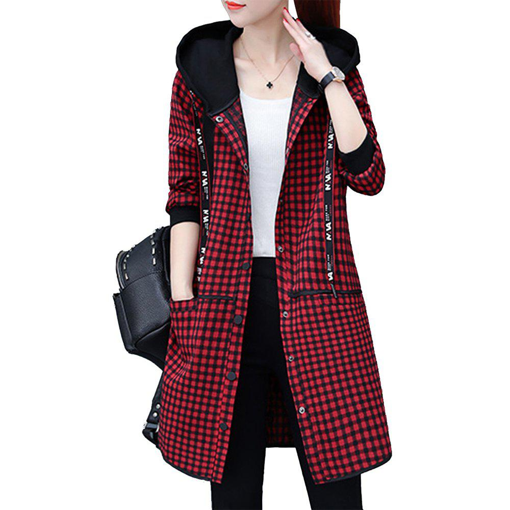 Discount Women's Quilted Coat Loose Long Sleeve Hooded Coat