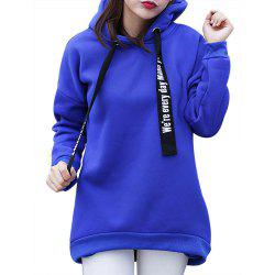 Women'S Plus Size Hoodie Long Sleeve Letters Pattern Solid Color Thicken Hoodie -