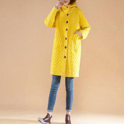 Long Autumn and Winter Warm Coat with Cotton Added Thick Hood -
