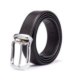 Men'S Head Layer Cowhide Fashion Simple Belt Alloy Pin -