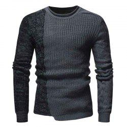 Men'S Fashion Round Neck Personality Color Matching Headband Slim Sweater -
