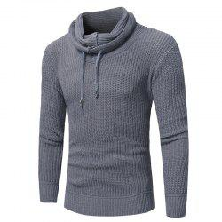 2018 New Men'S Fashion Solid Color Pullover Slim Sweater -