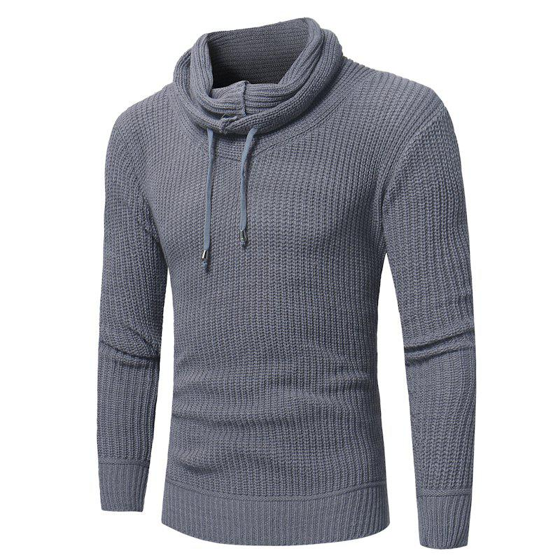 Outfits 2018 New Men'S Fashion Solid Color Pullover Slim Sweater