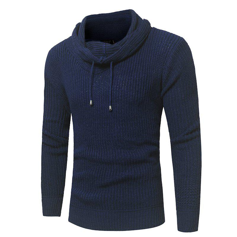 Outfit 2018 New Men'S Fashion Solid Color Pullover Slim Sweater