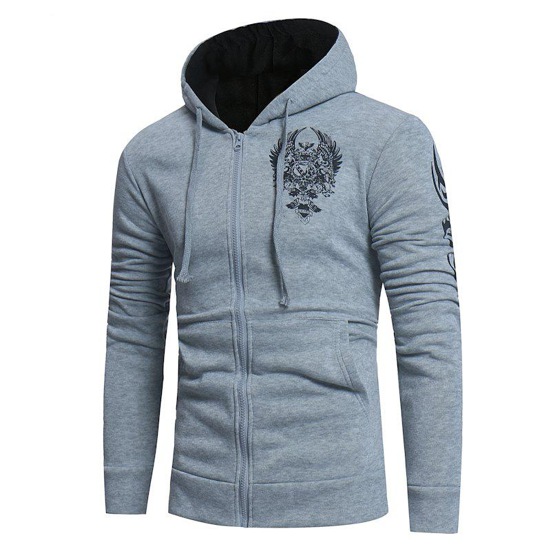 Hot 2018 New Men'S Fashion Hot Stamping Hooded Cardigan Slim Sweater