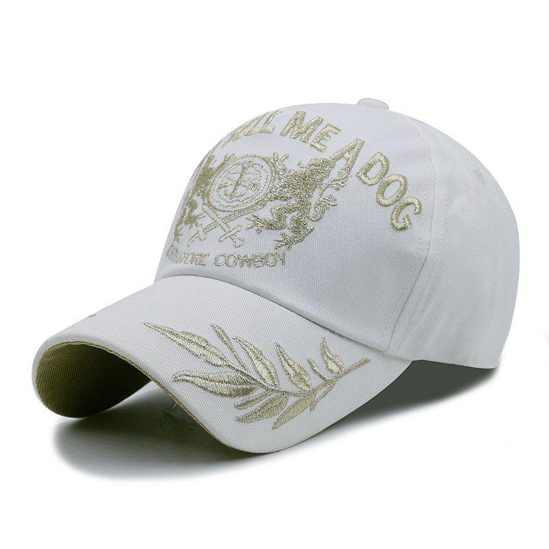 Trendy Wheat Ear Embroidered Baseball Cap + Adult Fit for 56-59CM