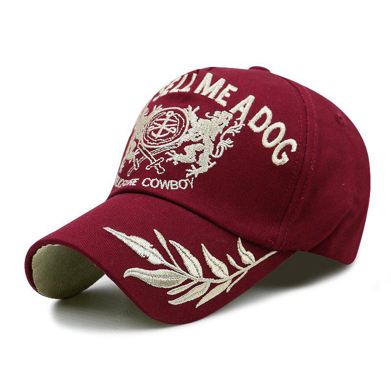 Fancy Wheat Ear Embroidered Baseball Cap + Adult Fit for 56-59CM