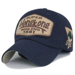 Patch letter embroidery baseball cap + adjustable size (56-60CM) -