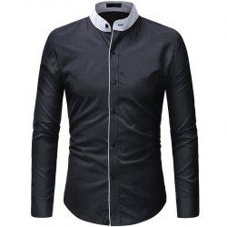 Mode masculine chemise solide chemise -