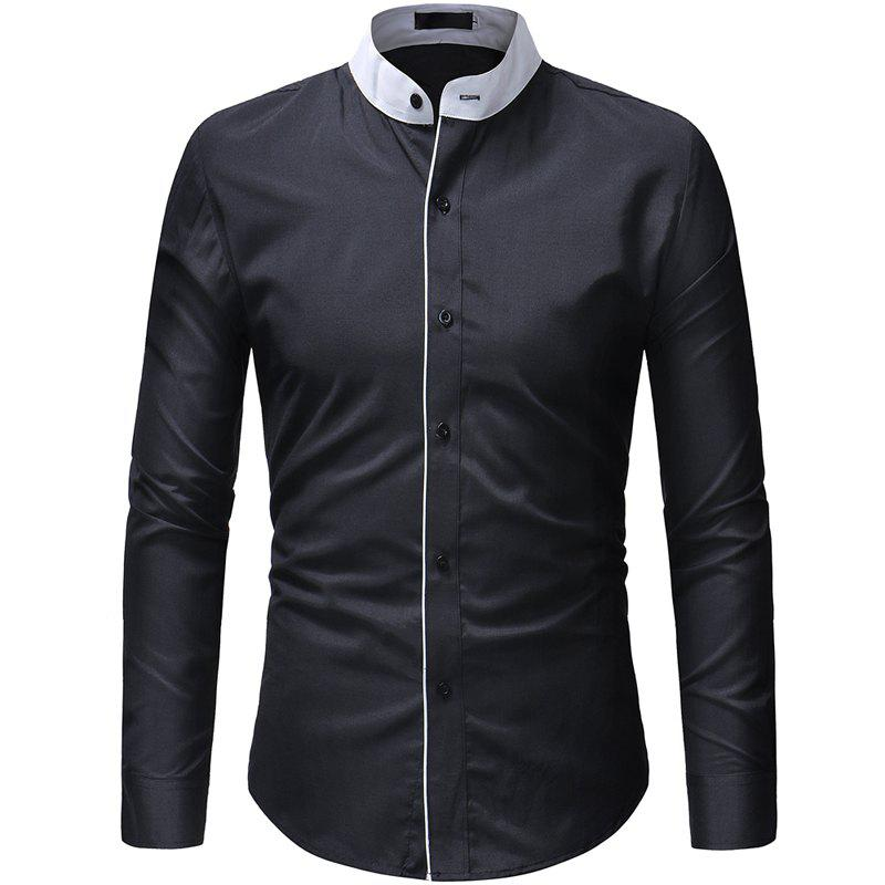 Mode masculine chemise solide chemise