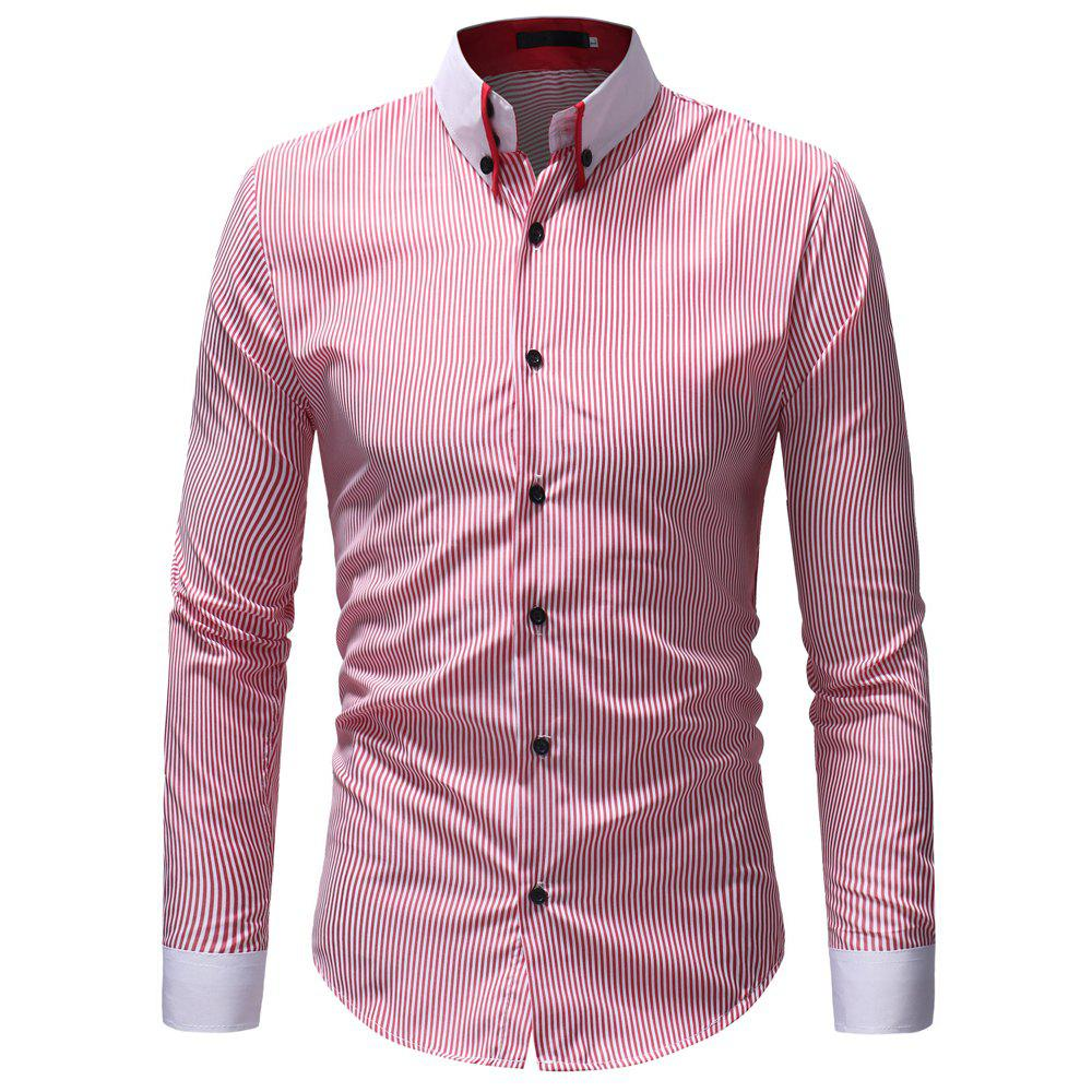 Outfit Men'S Striped Collar Shirt