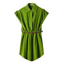 Womens Clothing Shirt Skirt Lapeldress -