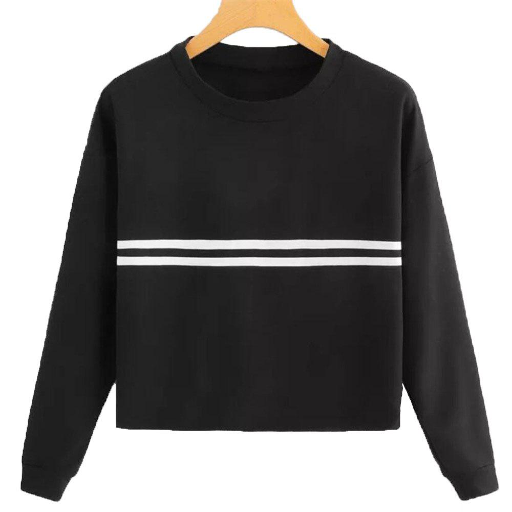 Latest Women's Loose Long Sleeve Solid Color Sweatshirt