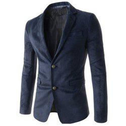 New Man Fashion Micro Tissu Casual Blazer Manteau -