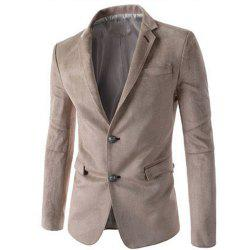 Новый мужская мода Micro Fabric Casual Solid Blazer Coat -