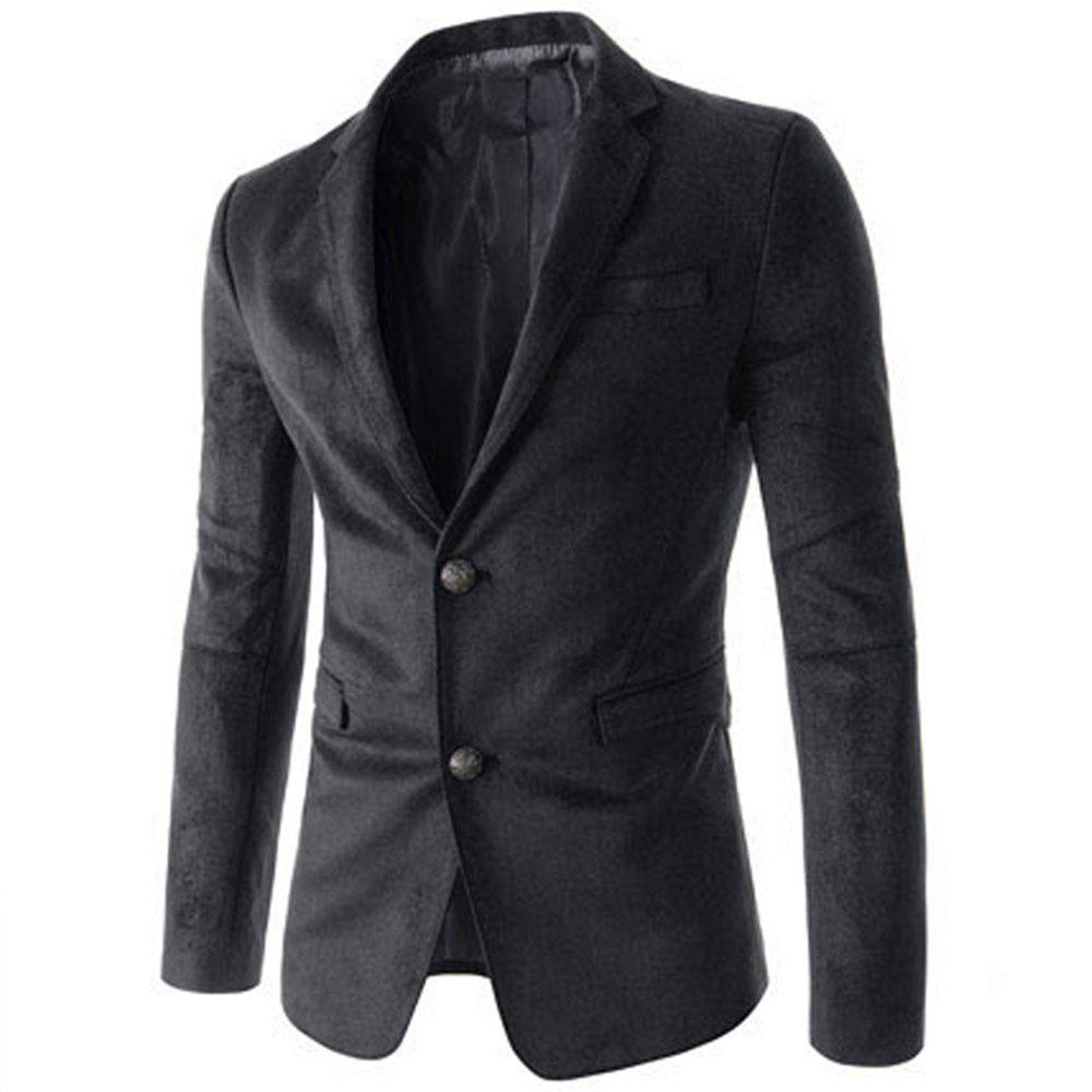 New New Man Fashion Micro Fabric Casual Solid Blazer Coat