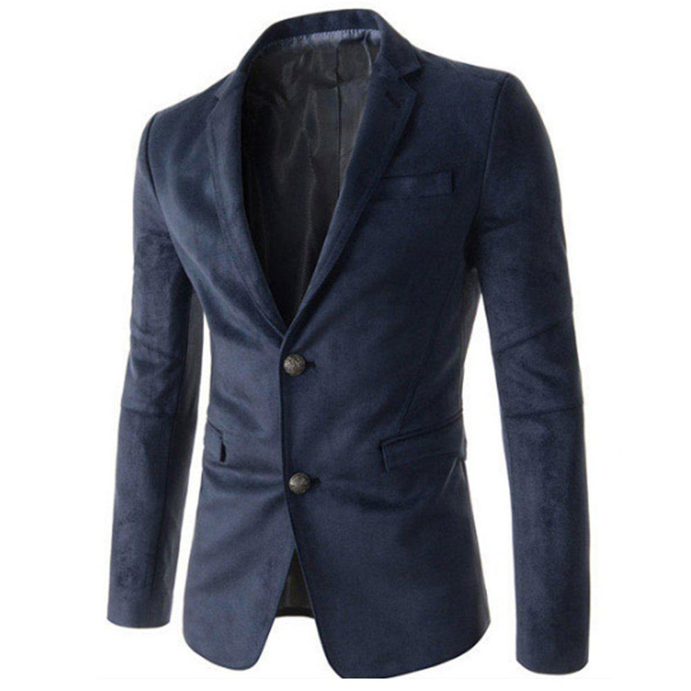 New Man Fashion Micro Tissu Casual Blazer Manteau