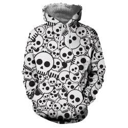 European and American Fashion 3D Printing Nipple Cover Hooded Hoodie -