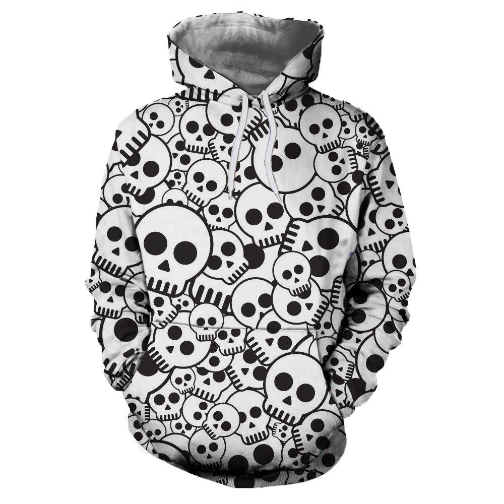 Affordable European and American Fashion 3D Printing Nipple Cover Hooded Hoodie