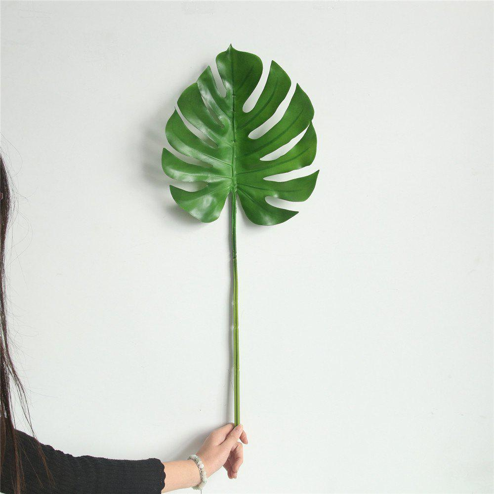 Cheap Simulation Monstera Leaves Home Wedding Decorations Artificial Flowers