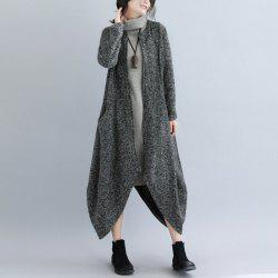 Irregular Knit Cardigan Coat -