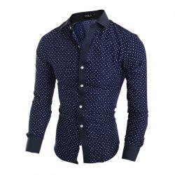 New Classic Pentagon Printed Men'S Casual Long Sleeve Shirt -
