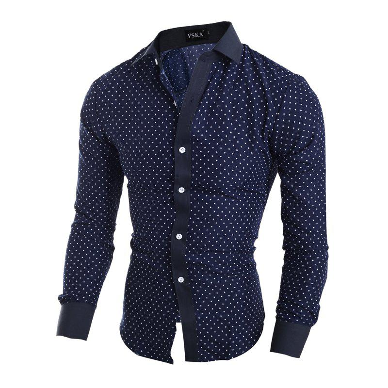 Buy New Classic Pentagon Printed Men'S Casual Long Sleeve Shirt