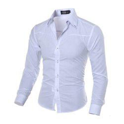 New Fashion Ling Checker Design Men'S Leisure and Sleeve Shirt -