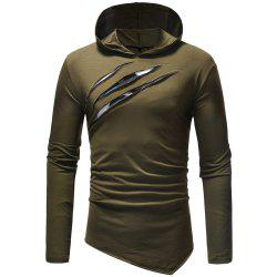 New fashion Men's Leisure  Self-Cultivation  Hat and Long Sleeve T-Shirt -