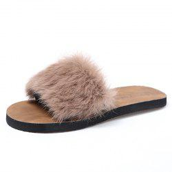 Rabbit Fur Slippers Women Wear Hairy Slippers Indoors and Outdoors. -