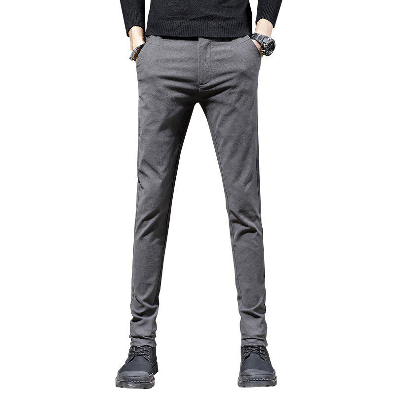 Online Men'S Fashion Casual Pants Trend  Version of Slim Trousers Trousers 1025