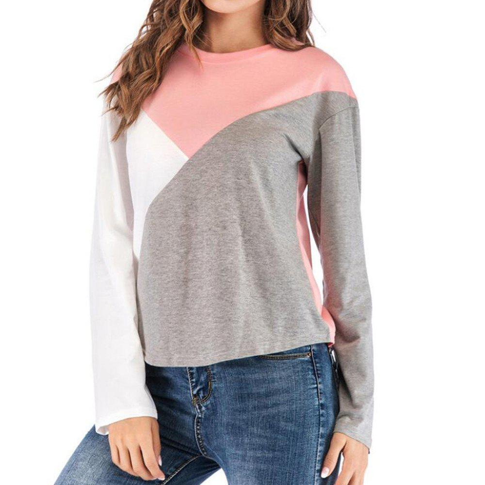 Tee shirt Femme, col rond, manches longues
