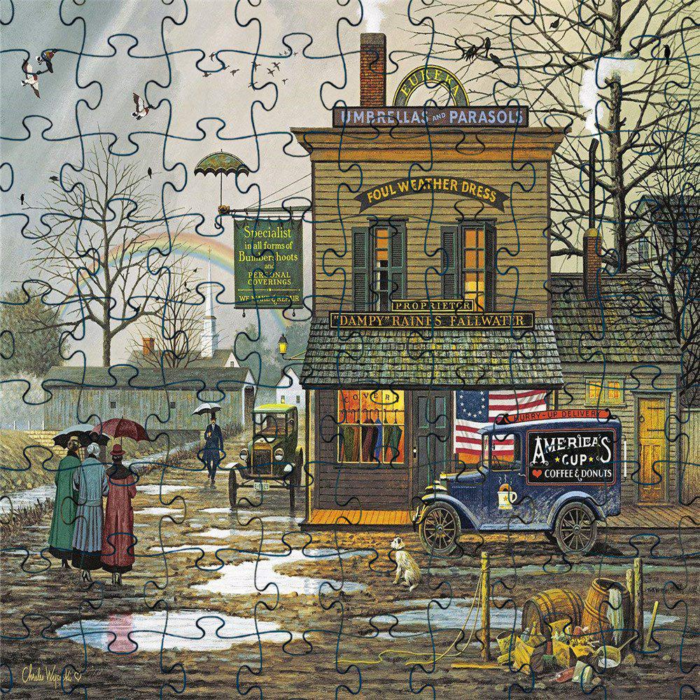 3D Jigsaw Paper Old Street Puzzle Block Assembly Birthday Toy