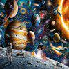 3D Jigsaw Paper Space Space Puzzle Block Assembly Birthday Toy -