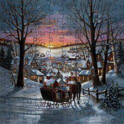 3D Jigsaw Paper Snow View Puzzle Block Assembly Birthday Toy -