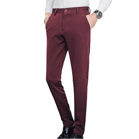 Men's Slim Stretch Solid Color Feet Casual Pants