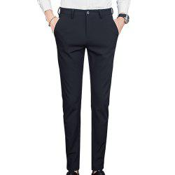 Men's Slim Stretch Solid Color Feet Casual Pants -