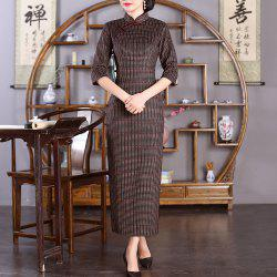 Chinese Classical Ladies Slim Fashion Sexy Embroidered Cheongsam -