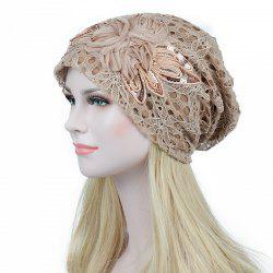 New Woman Fashion Breathable Floral Lace Hat -
