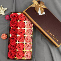 Roses Heart Valentine'S Day Christmas Gift Soap Artificial Flower with Box -