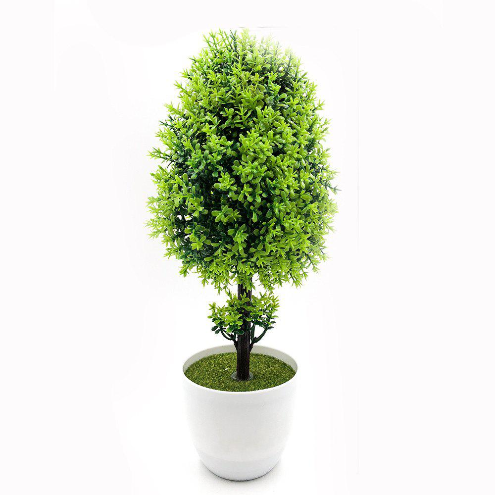 Shops Desktop Flower Art Potted Artificial Plant Bonsai Office Decorations