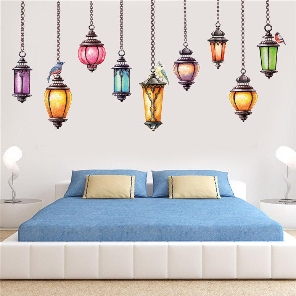 Colour Chandelier Bird Living Room Wall Decoration Wall Sticker Removeable